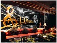 background music sounds - Custom d wallpaper d wall murals wallpaper Dynamic music symbol bar KTV box background wall paper livingroom wallpaper wall decor