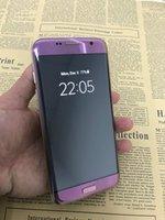 Android couleur email Prix-Nouveau violet Goophone couleur S7 bord 1Go 8GB Quad Core MTK6580 5,5 pouces 1280 * 720 3G GPS métal cadre Smartphone Android