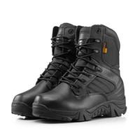 achat en gros de mens bottes de l'armée en cuir-Bottes tactiques bout rond hommes bottes de combat désert en plein air hommes bottes de cuir armée de l'armée tactique chaussures de sport