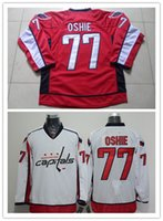 Wholesale New Men s T J Oshie Jerseys Red White Vintage Throwback Jerseys Ice Hockey Jerseys
