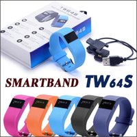Wholesale SmartBand TW64S Heart Rate Pulse Pulso Inteligente Banda Measure Smart Band Sport Smart Wristband Health Fitness Tracker Free DHL