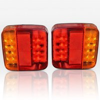 Wholesale 2x Red LED Trailer Truck Caravan Lamp Light Stop Tail Indicator Taillight M00137 VPRD