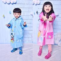 Wholesale Children Raincoat Kids rain coat cape poncho baby kid raincoat waterproof coats Rain Gear