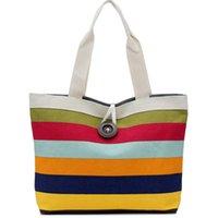 big clutch shop - Rainbow bag big button british plaid handbags hotsale women wave canvas shopping bag ladies party clutches shoulder bags M7