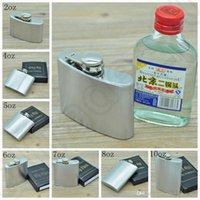 Wholesale Stainless Steel Hip Flask oz oz oz oz oz oz oz Pocket Hip Flasks Whisky Stoup Wine Pot Alcohol Bottle OOA1048