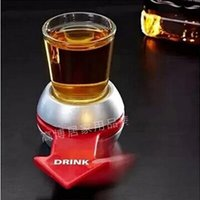 Wine Pourers Plastic ECO Friendly Spin The Shot Arrow Wheel Bar Tools Pointer Dial Antiskid Base Shots Spinner Fast Moving Fun Drinking Game Turning Disc Convenient 5 5gb
