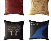 adult movie cover - Pillowcase Cushion Movie Style The Lord of the Rings Home Decorative Cotton Linen Cushion Cover Chair Seat Sofa Throw Pillows