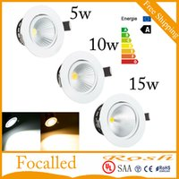 Wholesale New Style LED ceiling lights W W W COB dimmable downlight Spot lamp for home AC110V V led driver CE UL SAA