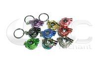 Wholesale Auto Parts Model Spinning Ring Turbo Charger Key Chain with Light Key ring Spool Drift JDM TDI VAG Euro Keyfob