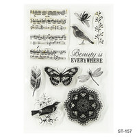 album stamps - Beauty Is Every Where Design Silicone Transparent Stamp Clear Stamps Set for DIY Scrapbooking Photo Album Decoration Supplies