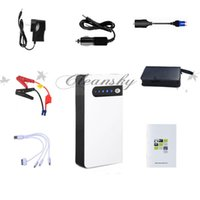 Wholesale Fedex DHL Free multifunction mAh V Portable Jump Starter Car Battery Charger Mini Power Inverter LED Light hot Z677 B