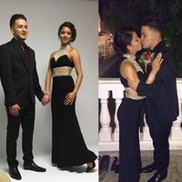 beautiful cover art - Beautiful Two Pieces Prom Dress Beaded A Line O Neck Royal Blue or Black Chiffon Long Formal Evening Gowns