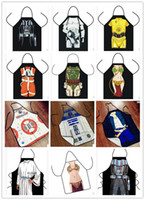 Wholesale 12 Style Star War Kitchen Aprons Anime Cartoon Character Funny Cooking Apron Home Party BBQ Apron