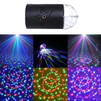 Wholesale Best Seller US EU V V Mini Laser Projector w Light Full Color LED Crystal Rotating RGB Stage Light Party Stage Club DJ SHOW
