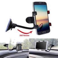 Wholesale Car Phone Holder Degree Rotating Arm Long Suction Mount Bracket Mount Holder with Suction Cup for iPhone android Phone