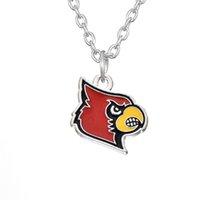 arkansas university - 20pcs Enamel Louisville University Cardinals Colorado Kansas State Jayhawk Arkansas College Team Logo Pendant Necklace AH110469