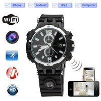 all'ingrosso wireless camera watch-Mini telecamere senza fili HD guardano la videocamera nascosta Cam 8GB WiFi Videocamera di sorveglianza Voice Recorder con Night Vision Spy DVR Motion Detection Security DV