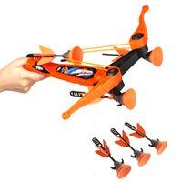 arrow plastic cups - New Fashion Children Kids Fun Game Outdoor Sport Toys Zing Air Hunterz Z Tek Crossbow Soft Suction Cup Arrows Orange