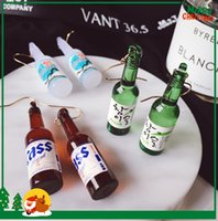 Wholesale Popular Middle Eastern Green Glass beer Bottle Shape Charm Earrings For Women s Hip Hop Jewelry Best Sellers Korean Hoop Earrings