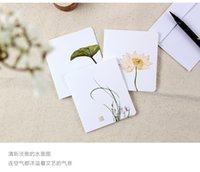 Wholesale The ancient small cards China wind blank retro classic card ink Creative Festival folk style bookmarks Small fresh greeting cards