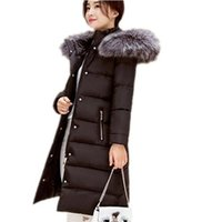 Wholesale 2016 New Camperas Mujer Invierno Outerwear Winter fur collar Parkas Women Hoods Cotton padded Coat Medium Casual Jacket JX019