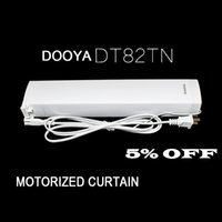 Wholesale best price high quality the motorized curtain track the smart home used motorized curtains DOOYA motor DT82TN