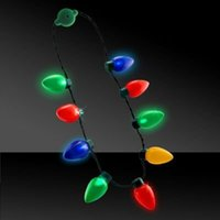 Wholesale Flashing Christmas Bulb Led Necklace For Adults Or Kids By Blue Green Novelty led night light led toys
