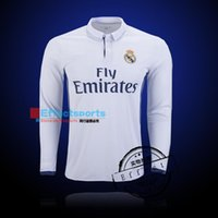 american soccer shirts - Real Madrid long sleeve soccer jerseys uniform home away Maillot de foot Ronaldo james bale benzema kroos modric football shirts