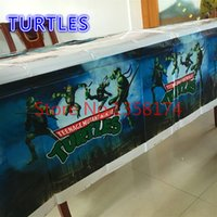 Wholesale Turtles design PE rectangle tablecloth for child birthday party festival banquet decoration tablecover cm