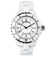 Relojes de lujo de la marca de fábrica de señora White Ceramic Relojes de cuarzo de la alta calidad para las mujeres Relojes exquisitos de la mujer de la manera