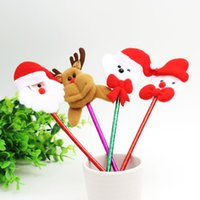 Wholesale Hot sales Lovely Kawaii Santa Claus creative ballpoint pen Christmas decoration pen Christmas many multicolor Christmas products wholesales