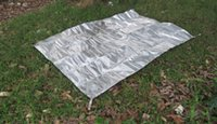 aluminum foil sheets - Ultra light Portable Tent Tarp Aluminum Foil Ground Sheet Multi function Waterproof Camping Mat Person Travel Accessories