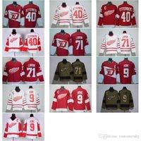 Wholesale 2017 Centennial Classic Jerseys Detroit Red Wings Dylan Larkin Henrik Zetterberg Gordie Howe Ice Hockey Jersey