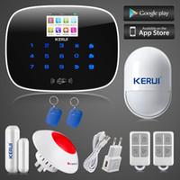 alarm sensor zone - LS111 KERUI ios android app control independent zones GSM home alarm system door window sensor open remind wireless flashing siren