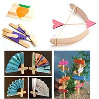 Wholesale Wooden Popsicle Stick Kids Hand Crafts Art Ice Cream Lolly Cake DIY Puzzle Making Funny Children Gift