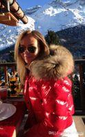 fur collar - M18 women jacket winter popular coat thickening Female Clothes real raccoon fur collar hood down jacket