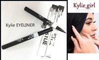 Wholesale Hot KYLIE JENNE Black Brown Liquid Eyeliner Long lasting Waterproof Eye Liner Pencil Pen Nice Kylie Makeup Cosmetic Tools