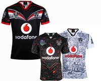Wholesale NEW Warriors RUGBY jersey Top Thailand quality RWC NRL Rugby warriors home and away Shirts