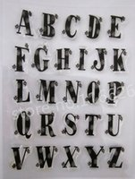 big alphabet stamps - new big Letters clear rubber stamp A Z Flowers decorating Alphabets height cm