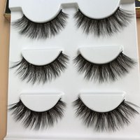 achat en gros de cils de scène-Nouveau 3D Mink Faux cils Naturels Long Crisscross Épais Messy Soft Fake Lashes Beauté Maquillage Stade Stereo Fashion Lashes Eye Big Tool