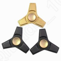 Wholesale Fidget Spinner Hand Spinner Zn Alloy Metal Torqbar Style Black Gold Handspinner Focus Toy Decompression Toys OOA1320