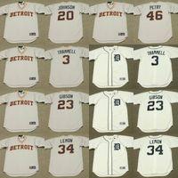 Wholesale 2017 Men s Detroit Tigers ALAN TRAMMELL HOWARD JOHNSON KIRK GIBSON CHET LEMON DAN PETRY Throwback Baseball Jersey Stitched