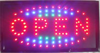 Wholesale 2016 direct selling custom led screen signs X19 inch semi outdoor Animated Running led open sign