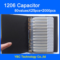 Wholesale SMD Capacitor muRata Sample Book valuesX25pcs PF UF Capacitor Assortment Kit Pack
