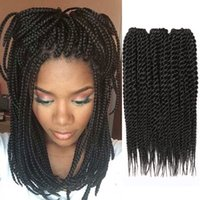 Wholesale 12 quot Black Color Crochet Braid Hair Extension for Black Women Long Straight African Box Hair Jumbo Synthetic Braiding Hair Extensions
