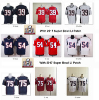 Wholesale 2017 SUPER BOWL LI Men Elite Jerseys NE Woodhead Dont a Hightower Vince Wilfork Jersey Wear Game Limited Free Drop Ship Mix Order