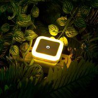 Wholesale Light sensor Mini LED W Night Light Control Auto Sensor Baby Bedroom Hallway Square LED Night Light