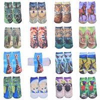 Wholesale d Printed Socks Women New Kwaii Low Cut Ankle Funny Sock Summer New Fashion Women s Casual Cotton Kwaii Animal Socks