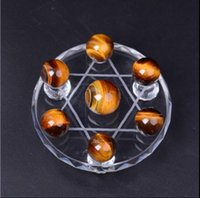 array box - Tiger s eye dipper furnishing articles Tiger eye ball Feng shui dipper array Crystal ball wooden change and eye ball