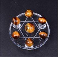 arrayed box - Tiger s eye dipper furnishing articles Tiger eye ball Feng shui dipper array Crystal ball wooden change and eye ball